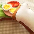 フェルトでままごと野菜サンド