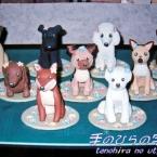 花畑の中で・・・9種の犬