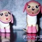 ピンクの犬着ぐるみわんこ
