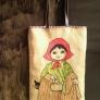 ヴィンテージクロスの刺繍バッグ
