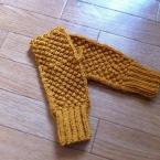 ラズベリー編みのハンドウォーマー