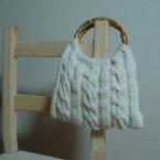 なわ編みのバッグ