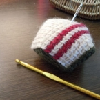 アフガン編みの八角ピンクッション