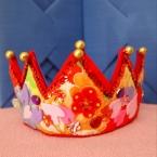 アンティーク着物生地の和冠