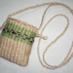 手織り麻ひもポシェット
