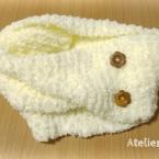 ざっくり編みのふわもこスヌード