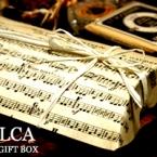 楽譜を使った手作りギフトボックス