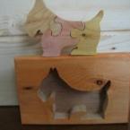 キュートな木製パズル (ワンワン♪ドッグ♪犬)