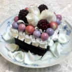 プリザーブドフラワーで作る*簡単お花のケーキ*