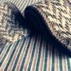 ヘリンボーン柄ヘアバンド(棒針編み)