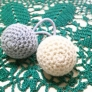 編み玉のヘアゴム♪