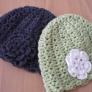 花モチーフのニット帽(子供用)