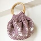 モチーフ編みの浴衣バッグ