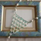 ネット編みで作るレースネックレス