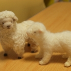 羊毛フェルト *羊の親子*