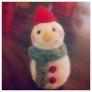 クリスマスに☆羊毛フェルトのスノーマン人形