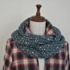 イギリスゴム編みのスヌード