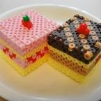 アイロンビーズ ☆立体ケーキ☆