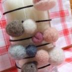 羊毛ヘアゴム