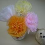 ラナンキュラスっぽい、ちりがみお花♪
