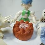 ちりがみ・ミニチョコケーキ♪