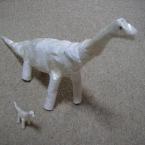 ちりがみブラキオサウルス(親子)