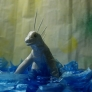 ティッシュの海底怪獣♪