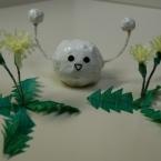 タンポポっぽい、ちりがみお花♪