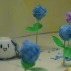 アジサイっぽい、ちりがみお花♪