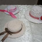 鎖編みでミニハット♪