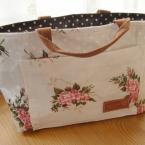 花柄 バッグインバッグ